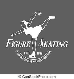 Ice Skating label logo set - Ice Skate label logo design....