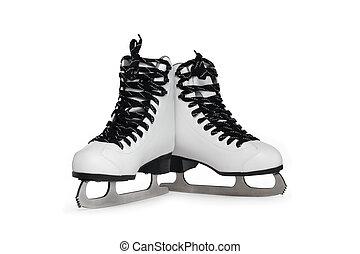 Ice Skating Shoes - New white female ice skating shoes....