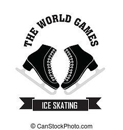 Ice Skating symbol on white background