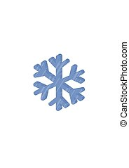 Ice snowflakes vector illustration isolated on white background.