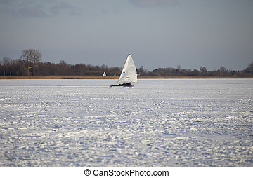 Ice surfing in the netherlands