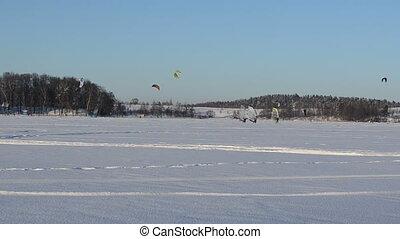 ice surfing kiteboarding