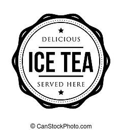 Ice Tea vintage stamp