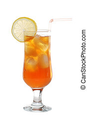 Ice tea with a slice of lemon