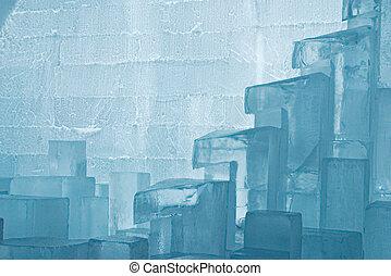 ice texture - Jukkasjärvi ice hotel near Kiruna in Lapland,...