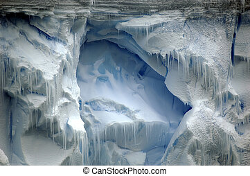 Ice wall - Majestic Antarctic ice wall with pinnacles