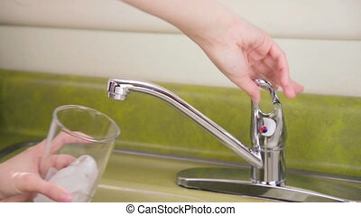 Ice Water from Sink - Cold fresh water from kitchen sink...