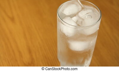 Ice water.