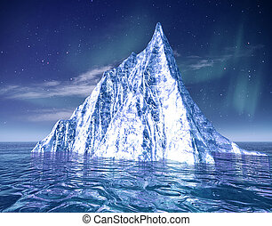 iceberg., 떼어내다, eco, 배경, 치고는, 너의, 디자인