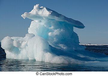 iceberg, artico, sole, (canadian, sea), nunavut