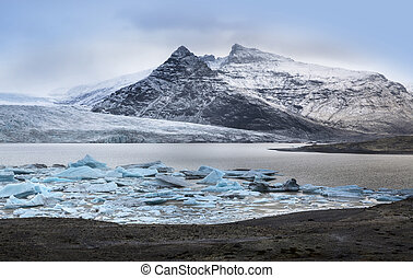 Iceberg at Fjallsarlon glacier lake, Iceland