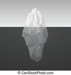 Iceberg Background In Low Poly Style. Vector