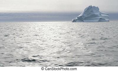 Iceberg - Beautiful iceberg in arctic waters around Disko...