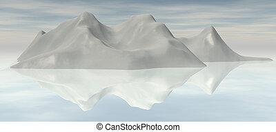 Iceberg - Digital visualization of an iceberg