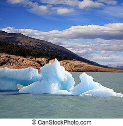 iceberg, en, argentina, lago