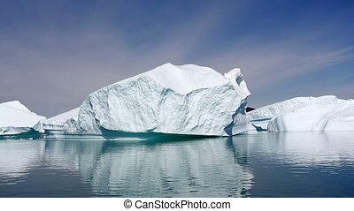 Iceberg fjord in Greenland