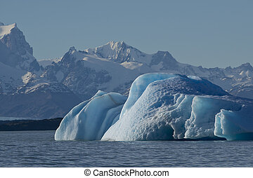 Iceberg floating on the Lake Argentino