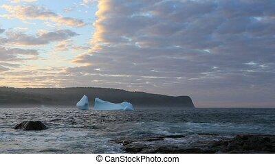 Iceberg along the coast of Newfoundland.
