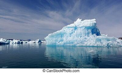 iceberg, gronelândia, fjord