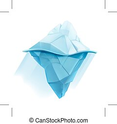 Iceberg icon - Iceberg, low poly style  icon