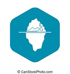 Iceberg icon, simple style