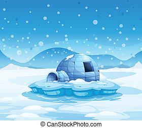 iceberg, iglú