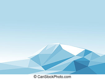 Iceberg - Vector illustration of polygonal iceberg.