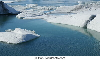 iceberg, j?ku, défaillance, haut, 4k, temps, fin