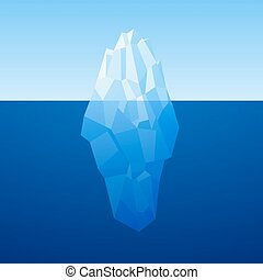 iceberg, poly, vector, bajo, plano de fondo, style.