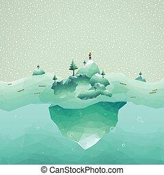 iceberg scenery
