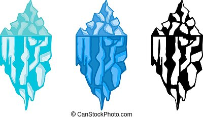 Iceberg - Set of abstract graphic iceberg