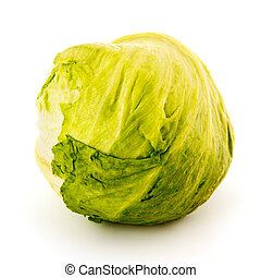 iceberg sla - iceberg salad isolated over white background