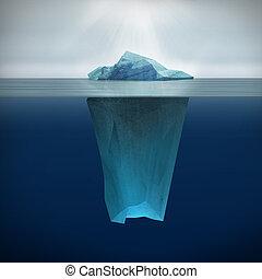 Iceberg - 3d render of  Iceberg