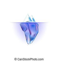 iceberg isolated on white background