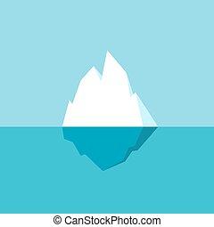 Iceberg vector icon - Iceberg vector cartoon icon