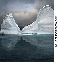 swimming pool - iceberg with penguins looks like swimming...