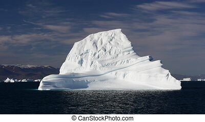 Icebergin in Greenland - Iceberg in Greenland travel on...