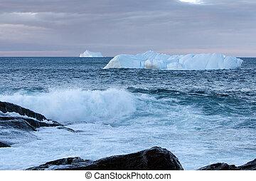 Icebergs - Iceberg along the coast of Newfoundland.