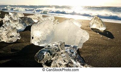 Icebergs Iceland glacier nature ocean