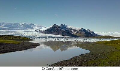 Icebergs in Glacier Lake - Icebergs floating in glacial lake...
