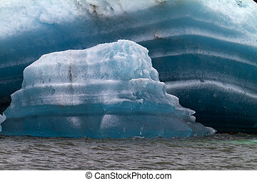 icebergs in the sea