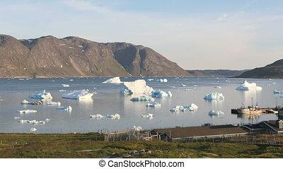 Icebergs outside of Narsaq
