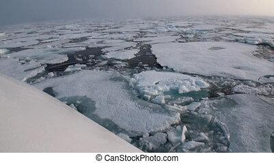 Icebreaker breaks the ice and move forward. - Icebreaker...
