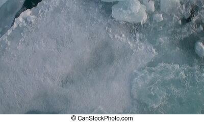 Icebreaker breaks the ice and move forward.