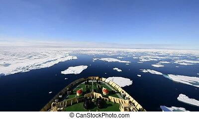 Icebreaker in the ice