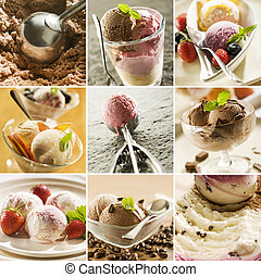 icecream - beautiful ice cream collage made from nine...