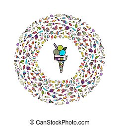 Icecream collection, sketch for your design
