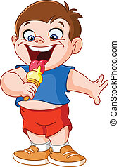 icecream, comer, criança