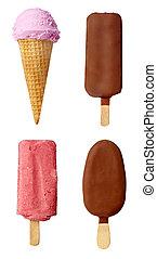 icecream dessert sweet food - collection of various ice...