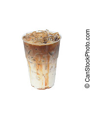Iced Coffee Isolated on White